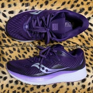Purple Saucony Ride iso 2 Running shoes 7 EUC